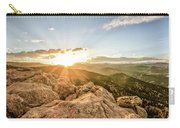 Sunset Over The Mountains Of Flaggstaff Road In Boulder, Colorad Carry-all Pouch