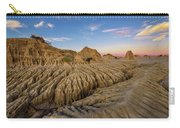 Sunset Over Walls Of China In Mungo National Park, Australia Carry-all Pouch