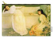 Symphony In White No 3 James Abbott Mcneill Whistler Carry-all Pouch