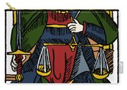 Tarot Card Justice Carry-all Pouch