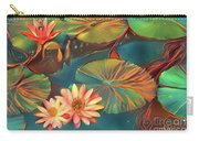 Teal Waterlilies 8 Carry-all Pouch