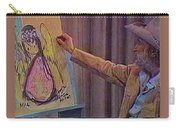 Ted Degrazia Drawing An Angel On Camera Kvoa Tv Screen Capture Christmas 1967 Carry-all Pouch