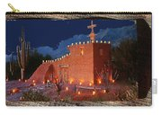 Ted Degrazia's Little Gallery Mission In The Sun Tucson Petley Postcard C.1968-2013 Carry-all Pouch
