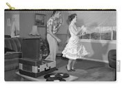 Teen Couple Dancing At Home, C.1950s Carry-all Pouch