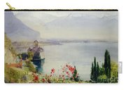 The Castle At Chillon Carry-all Pouch by John William Inchbold