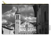 The Facade Of The Duomo With Mosaic And Eight Rose Windows And The Campanile Spoleto Umbria Italy Carry-all Pouch