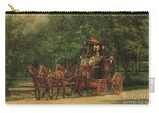 The Fairman Rogers Coach And Four Carry-all Pouch by Thomas Cowperthwait Eakins