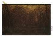 The Forest In Winter At Sunset Carry-all Pouch