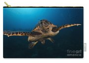 The Hawksbill Sea Turtle, Bonaire Carry-all Pouch by Terry Moore