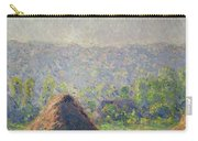 The Haystacks Carry-all Pouch by Claude Monet