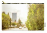 The Hedge By The Sidewalk During Day In The City Of Los Angeles Carry-all Pouch