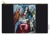 The Holy Family With Saint Anne And The Infant John The Baptist Carry-all Pouch