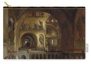 The Interior Of St Marks Basilica Venice Frederick Leighton Carry-all Pouch