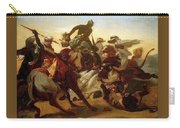 The Lion Hunt Horace Vernet Carry-all Pouch