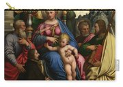 The Madonna And Child With Angels Saints And A Donor Carry-all Pouch