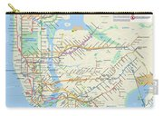 The New York City Pubway Map Carry-all Pouch