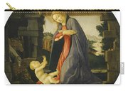 The Virgin Adoring The Child Carry-all Pouch