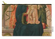 The Virgin And Child Enthroned With Angels Carry-all Pouch