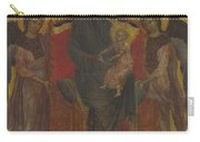 The Virgin And Child Enthroned With Two Angels Carry-all Pouch