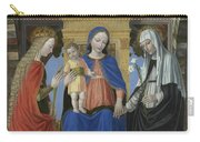 The Virgin And Child With Saints Carry-all Pouch