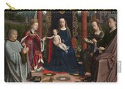 The Virgin And Child With Saints And Donor Carry-all Pouch