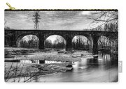 Thomas Viaduct In Black And White Carry-all Pouch by Dennis Dame