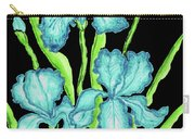 Three  Blue Irises Carry-all Pouch