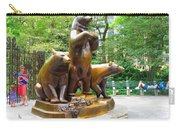 Three Bronze Sculpture Statue Of Bears Great Attraction At New York Ny Central Park By Navinjoshi Carry-all Pouch