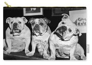 Three English Bulldogs Carry-all Pouch