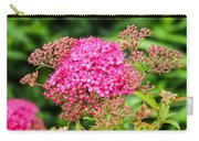 Tiny Pink Spirea Flowers Carry-all Pouch