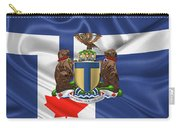 Toronto - Coat Of Arms Over City Of Toronto Flag  Carry-all Pouch