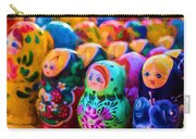 Family Of Mother Russia Matryoshka Dolls Oil Painting Photograph Carry-all Pouch