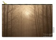 Trees Silhouetted In Fog Carry-all Pouch