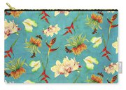 Tropical Island Floral Half Drop Pattern Carry-all Pouch