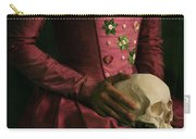 Tudor Woman Holding A Human Skull Carry-all Pouch