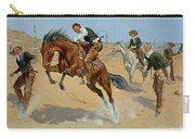 Turn Him Loose Carry-all Pouch by Frederic Remington