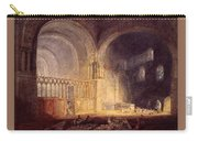 Turner Joseph Mallord William Transept Of Ewenny Prijory Glamorganshire Joseph Mallord William Turner Carry-all Pouch
