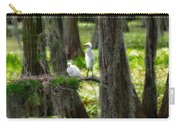 Two Baby Great Egrets And Nest Carry-all Pouch