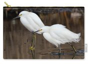 Two Snowy Egrets Carry-all Pouch