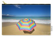Umbrella On Beach Carry-all Pouch