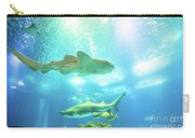 Undersea Shark Background Carry-all Pouch