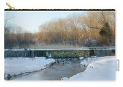 Valley Creek Waterfall In Winter  Carry-all Pouch