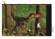 Velociraptor Dinosaur In The Forest - 3d Render Carry-all Pouch