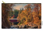Vermont Covered Bridge Over The Dog River Carry-all Pouch