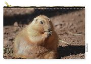 Very Large Overweight Prairie Dog Sitting In Dirt Carry-all Pouch