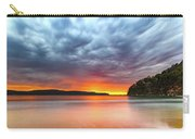Vibrant Cloudy Sunrise Seascape Carry-all Pouch