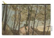 View From A Hill On A House On The Gulf Of Arcachon, August Allebe 1876 Carry-all Pouch