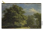 View In The Bentheim Forest, George Andries Roth, 1870 Carry-all Pouch