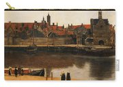 View Of Delft Carry-all Pouch by Jan Vermeer