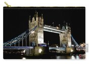View Of The River Thames And Tower Bridge At Night Carry-all Pouch